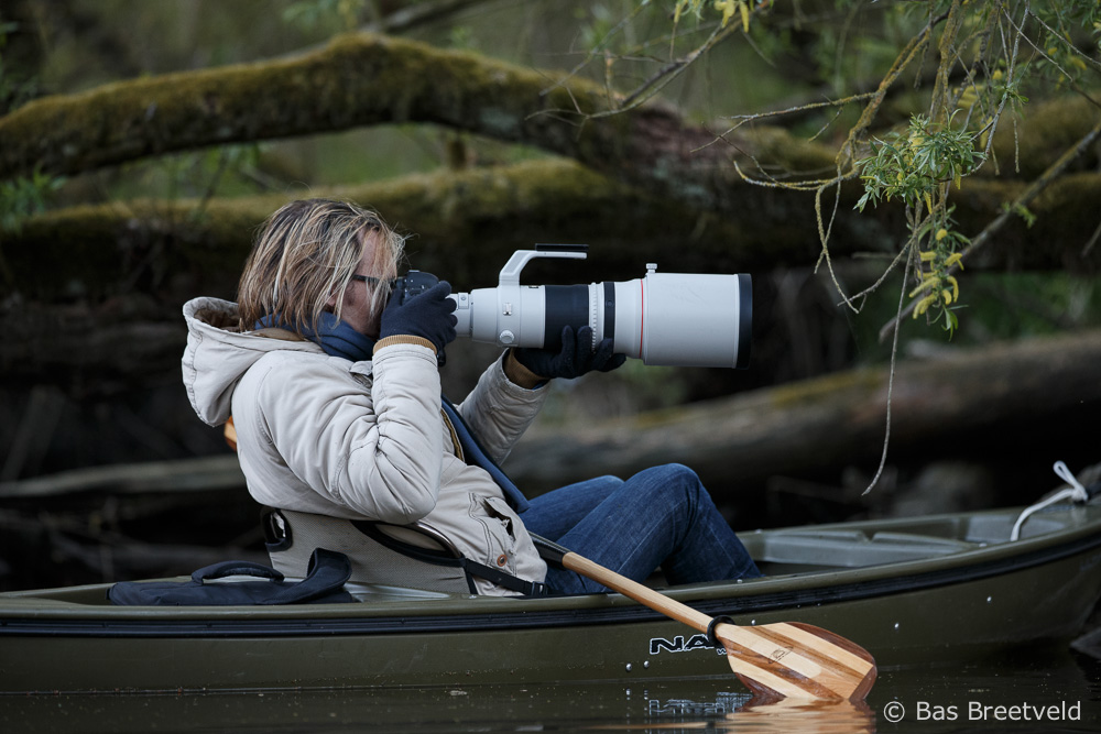 natuurfotografie met een kajak