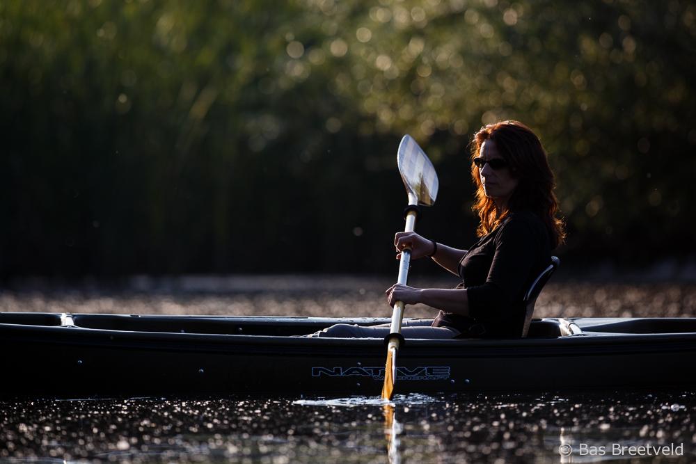 natuurfotografie met een viskajak